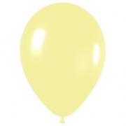 Шар (12''/30 см) Светло-желтый, пастель, 1 шт.