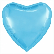 Шар (19''/48 см) Сердце, Холодно-голубой, 1 шт.