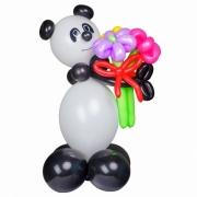 Панда с 3 ромашками